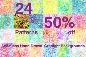 50% off. Gradient Patterns