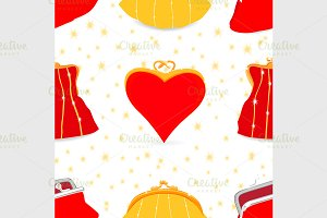 Seamless bags pattern