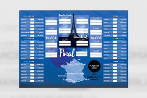 France 2016 Football Wallchart