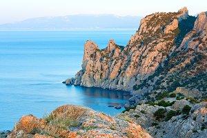 daybreak summer rocky coastline