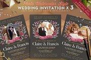 Photo Watercolor Wedding Invite II