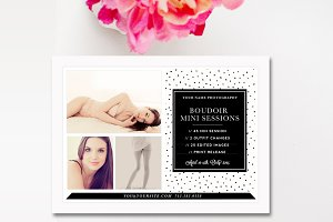 Boudoir Mini Session Marketing Board