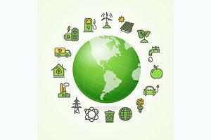 Ecology Concept. Vector