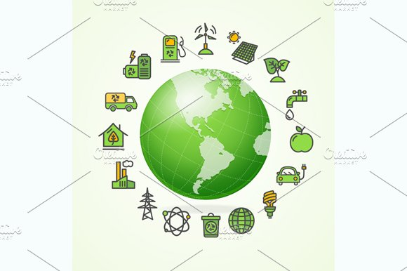 Ecology Concept. Vector - Illustrations