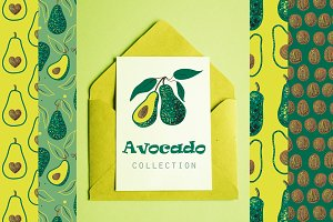Avocado vector collection