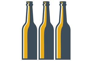 Beer Bottles Retro