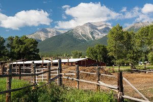 Farmyard and stables in Colorado