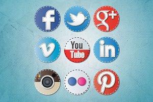 Social Media Icons - Seam