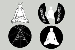 Meditation yoga 4 shapes set