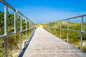 Boardwalk to ocean in Florida