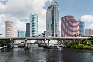 Skyline of Tampa in Florida