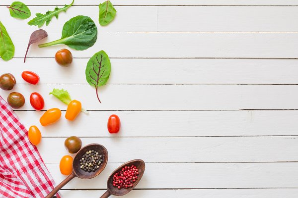 Healthy recipes mock up background