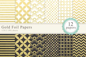 Gold Foil Papers