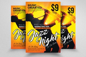 Jazz Music Party Flyer/Poster