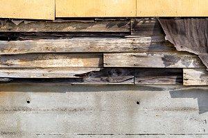 Old asbestos siding
