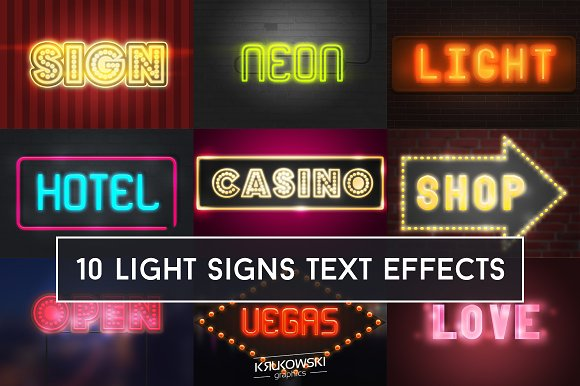 Light Signs Text Effect
