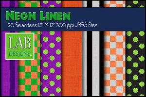 20 Neon Pattern Linen Textures