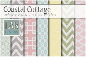 28 Pastel Pattern Fabric Textures