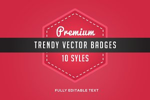 10 trendy vector badges