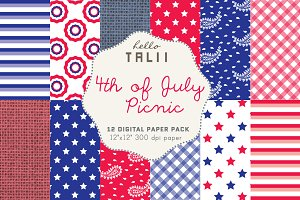 SALE! 4th of July Picnic Paper Pack
