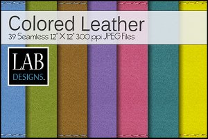 39 Bright Color Leather Textures