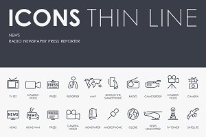 News thinline icons