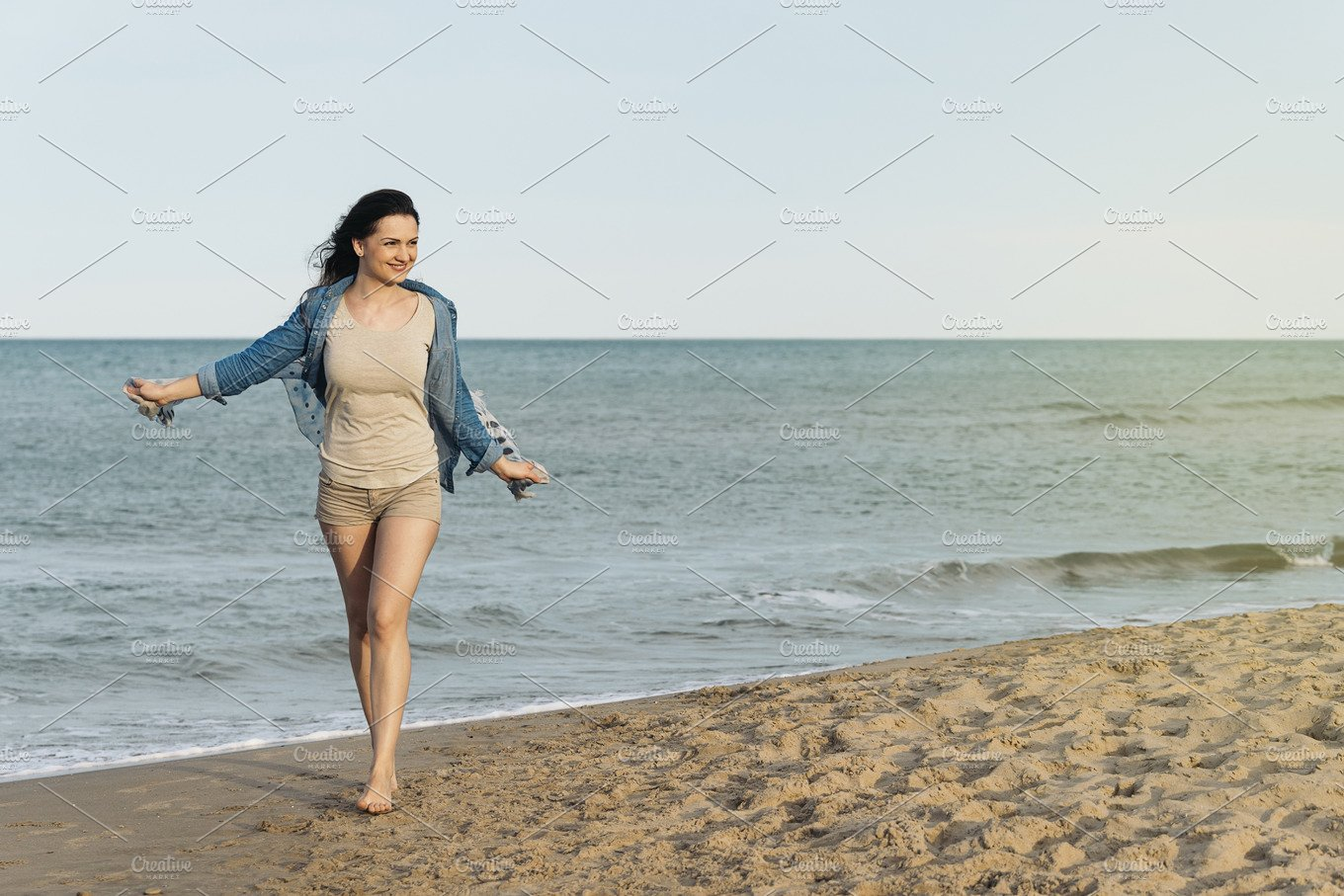 Pretty woman walking on the beach. ~ Holiday Photos ...