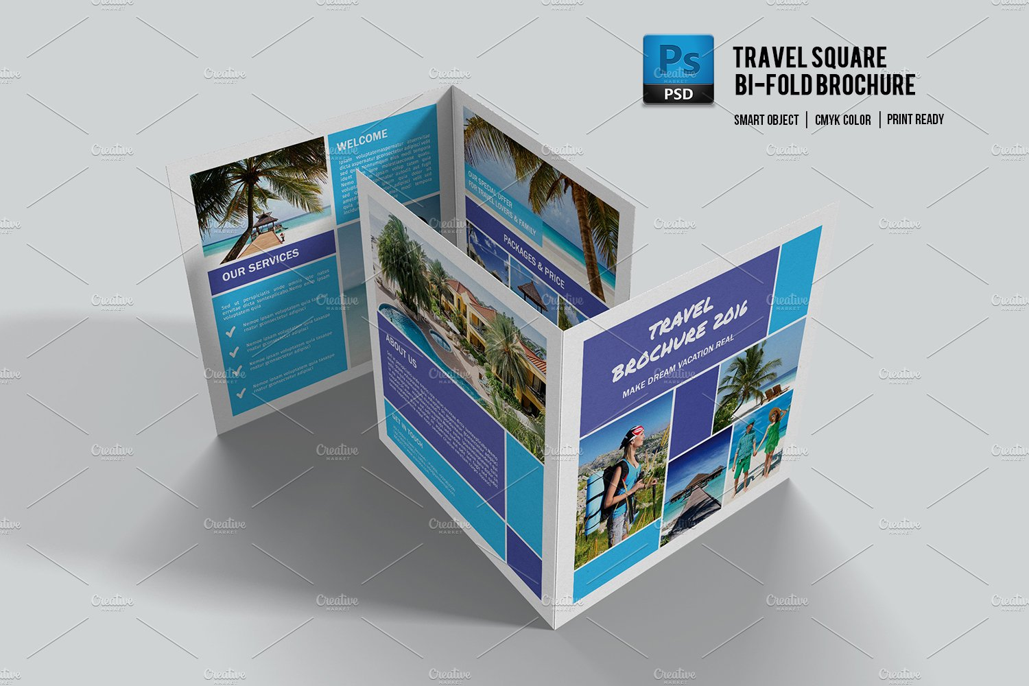 travel brochure template v505 brochure templates creative market