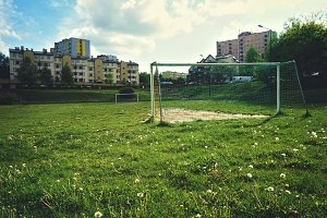 Local football field