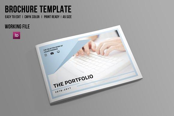 indesign portfolio brochure v506 brochure templates on creative market. Black Bedroom Furniture Sets. Home Design Ideas