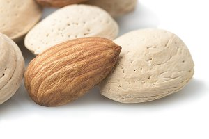 almonds closeup photo