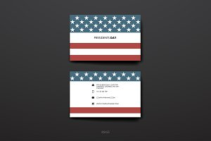 Presidents Day Business Cards