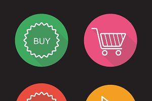 Online shop icons. Vector