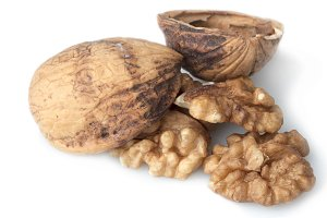 Closeup shot of walnut dry fruit