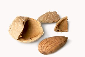 Macro photo of Almonds