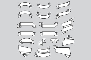 Ribbons vector template set