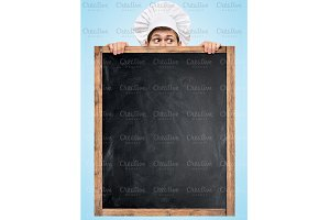 Blackboard for menu.