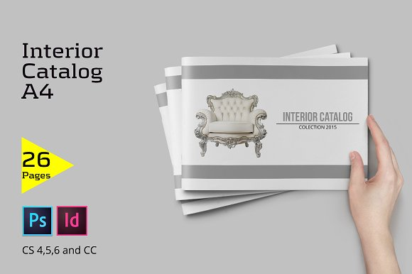 a4 interior catalog brochure templates creative market