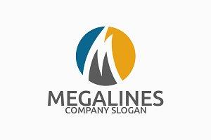 Mega Lines M Letter Logo