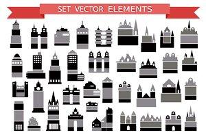 Various variants of houses