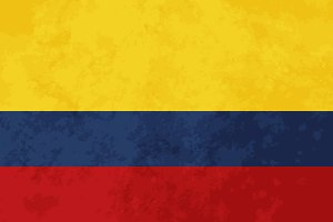 True proportions Colombia flag