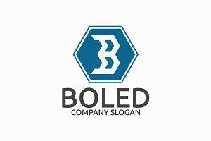 Boled Letter B Logo