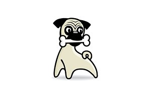 The Pug Dog Vector