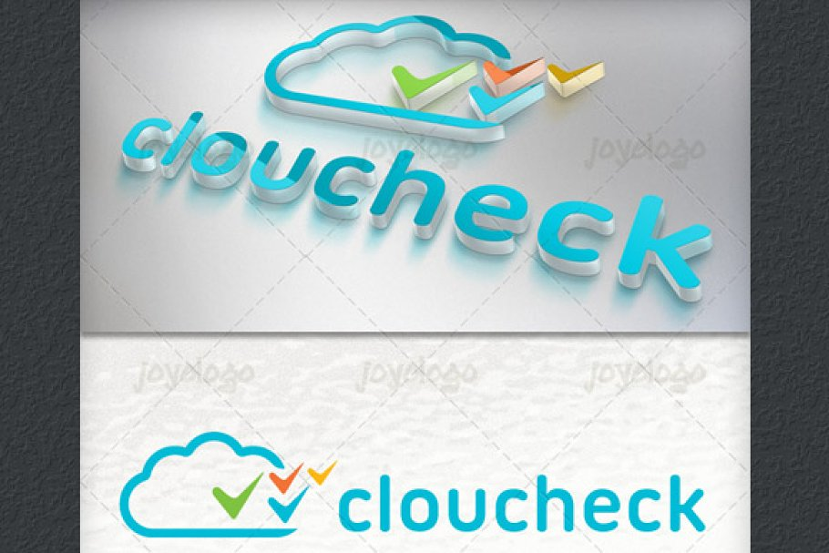 Applications Pixels Check Cloud Logo in Logo Templates - product preview 1