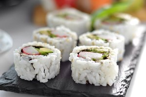 various types of sush