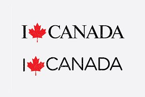 """I Love Canada"" Vector Template"