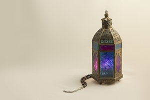 Colored Lantern with Luxury Rosary
