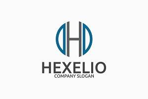 Hexelio Letter H Logo