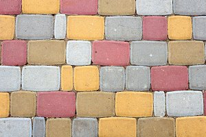 Colorful stone path