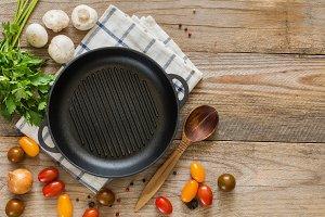 Healthy cooking ingredients, recipe